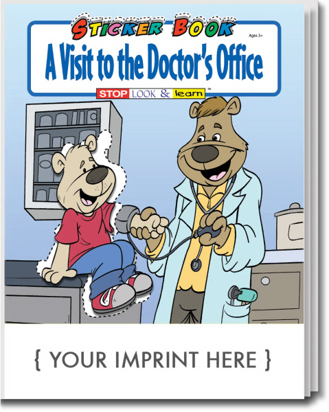 Imprinted A Visit To The Doctor's Office Sticker Book