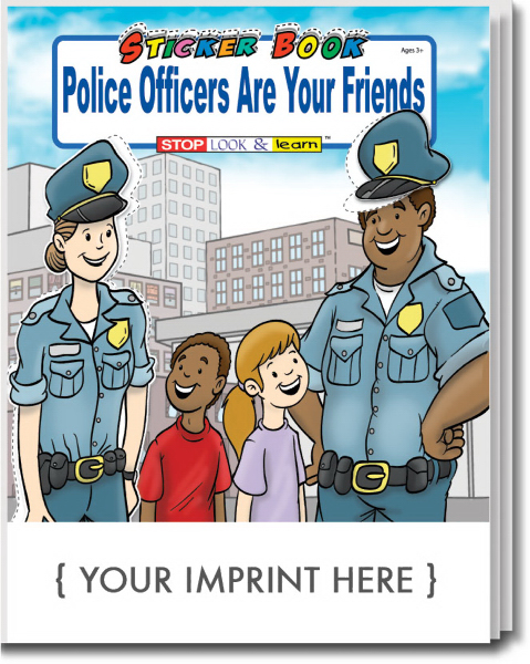 Custom Police Officers Are Your Friends Sticker Book