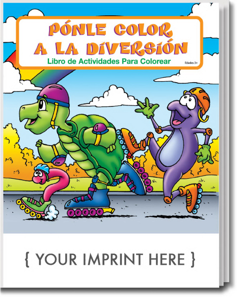 Imprinted Fun To Color Spanish Coloring and Activity Book