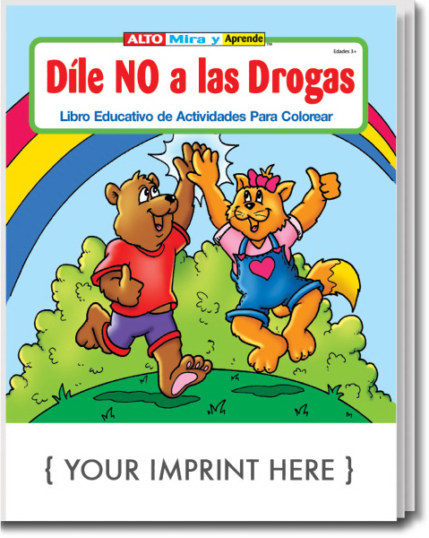 Custom Stay Drug Free Spanish Coloring and Activity Book