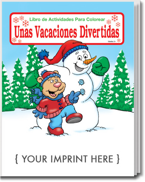 Promotional Holiday Fun Spanish Coloring and Activity Book