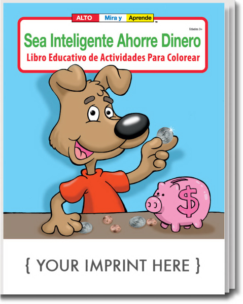 Imprinted Spanish Coloring and Activity Book