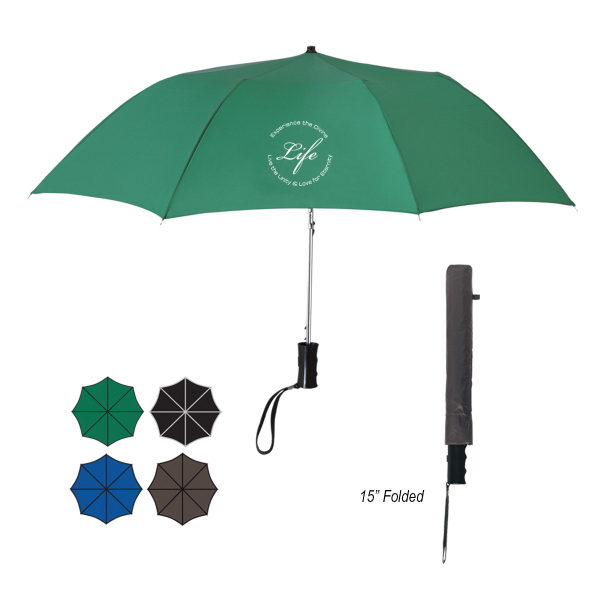 "Printed 36"" Arc Telescopic Folding Automatic Umbrella"