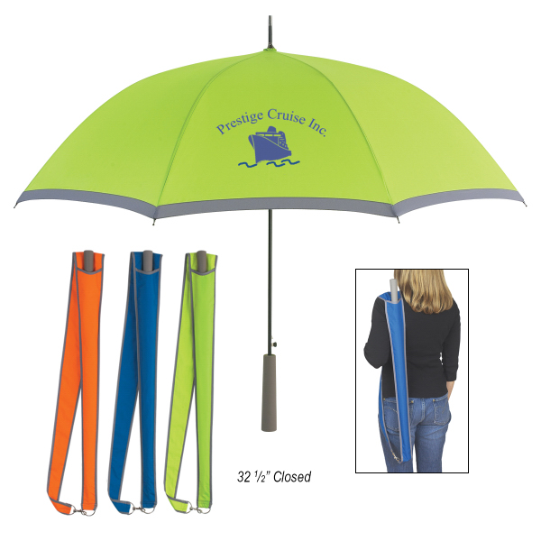 "Imprinted 46"" Arc Two-Tone Umbrella"