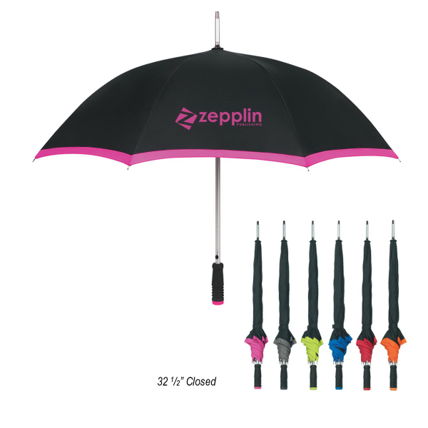 "Promotional 46"" Arc Edge Two-Tone Umbrella"