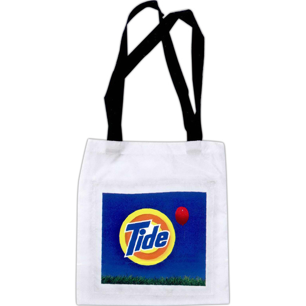 Promotional Full color tote bag with front pocket