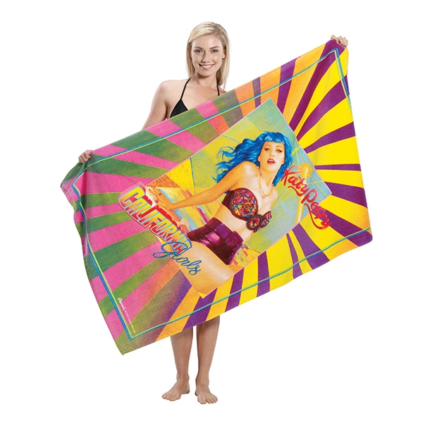 Customized Custom Fiber Reactive Terry Velour Beach Towels