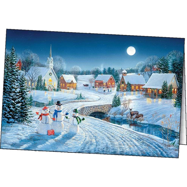 Personalized Season's Glow greeting card