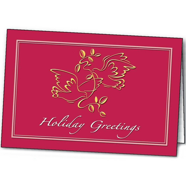 Customized Peaceful Tidings greeting card