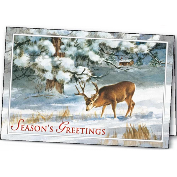 Imprinted Winter's Solitude greeting card