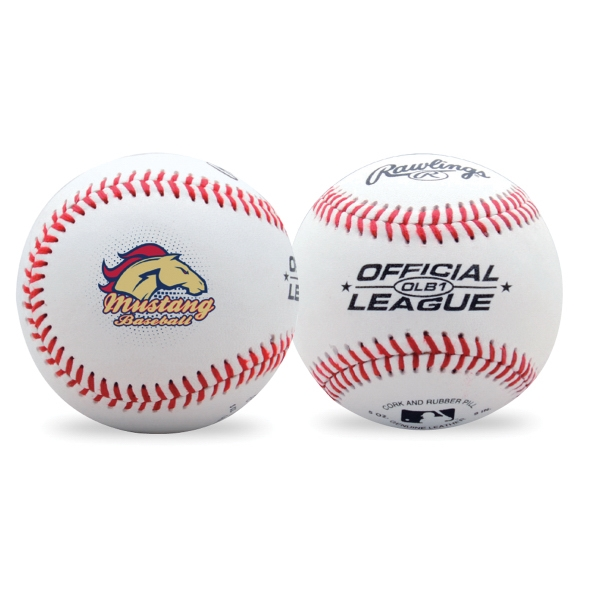 Imprinted Official League Leather Baseball