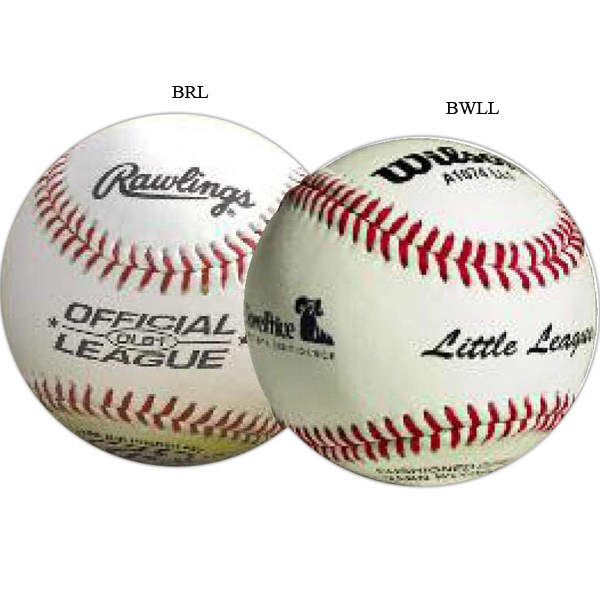 Printed Official League Leather Baseball