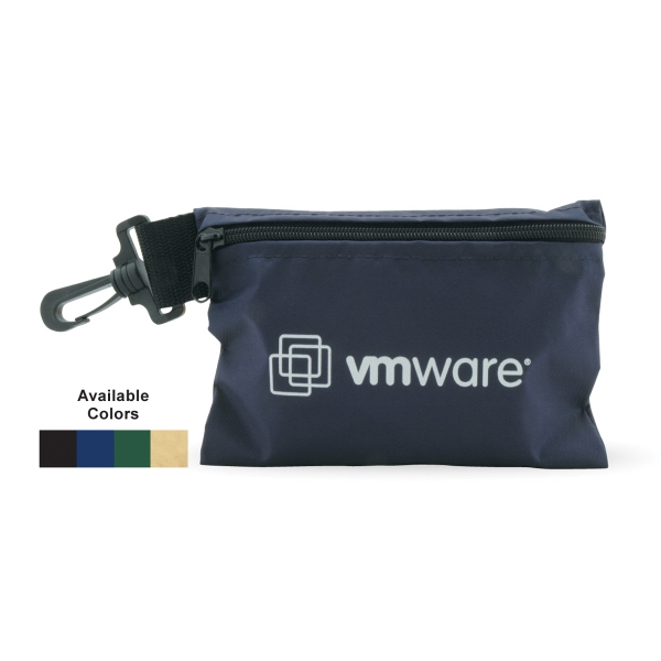 Personalized Clip On Valuables Pouch