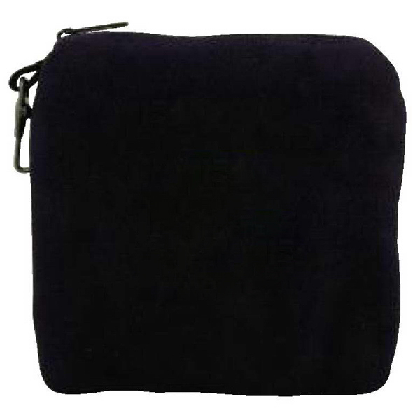 Imprinted Embroidered Suede Valuables Pouch