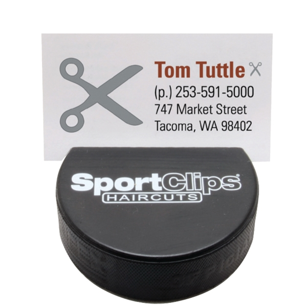 Customized Hockey Puck Business Card Holder