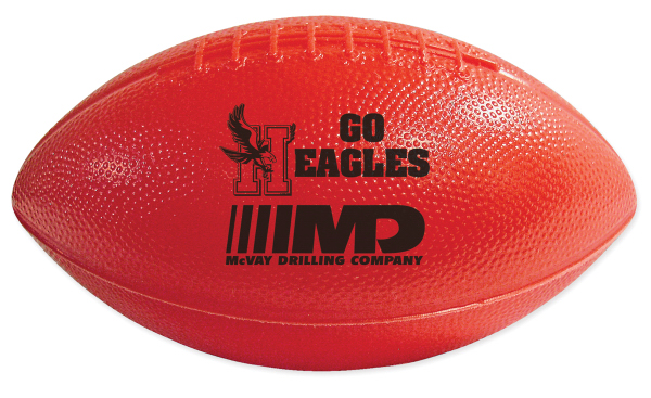 Customized Mini Plastic Football and Football with End Stripes