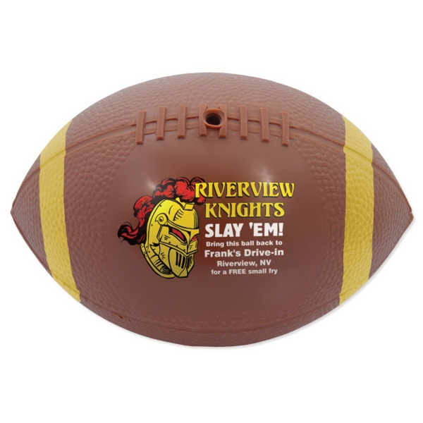 Promotional Mini Vinyl Footballs with End Stripes