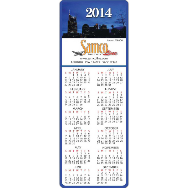 Custom Rectangle Calendar - Series 050