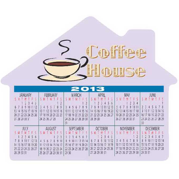 Imprinted Large House with Calendar - Series 080
