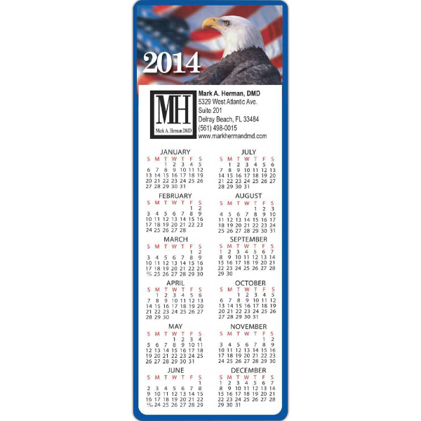 Promotional Rectangle Calendar with Patriotic - Series 050