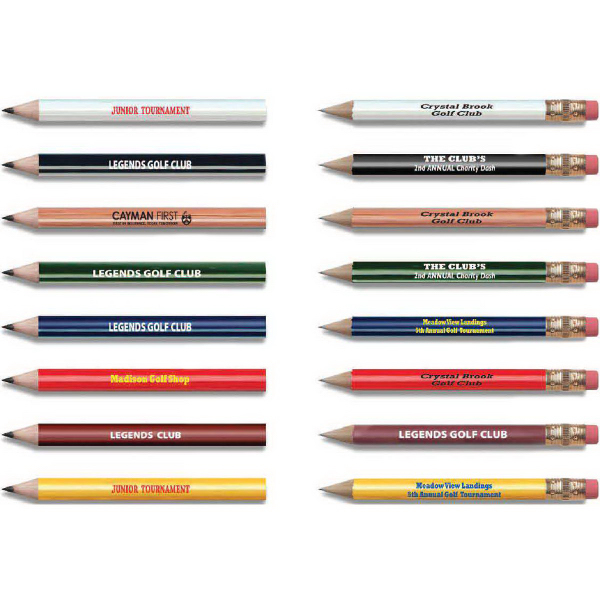 Custom Golf Pencil with eraser