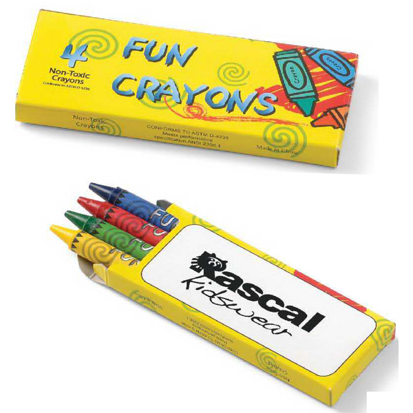 Customized 4-Pack Crayon