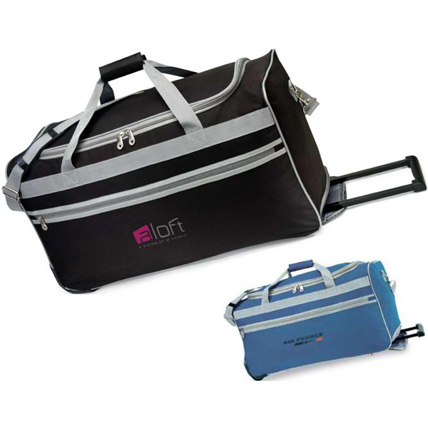 Printed South Beach Rolling Duffel
