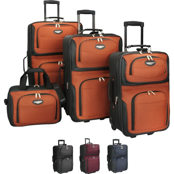 Printed Amsterdam 4 Pc Luggage Collection