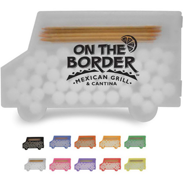Promotional Delivery Truck Shaped Pick 'n' Mints