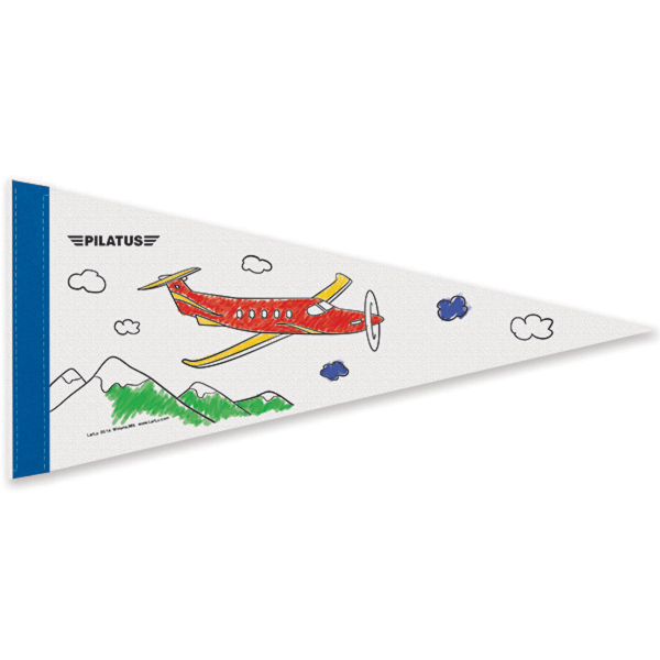 Printed Color-Me White Felt Pennant