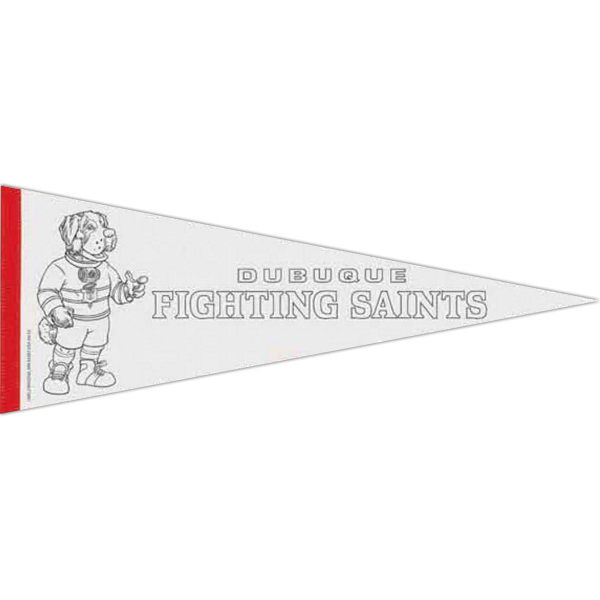 Custom Color-Me White Felt Pennant