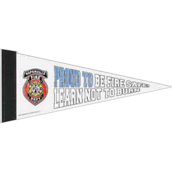 Customized Color-Me White Felt Pennant