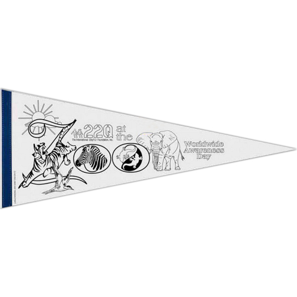 Promotional Color-Me White Felt Pennant