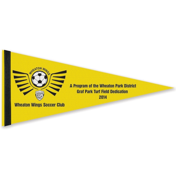 Customized White Felt Pennant