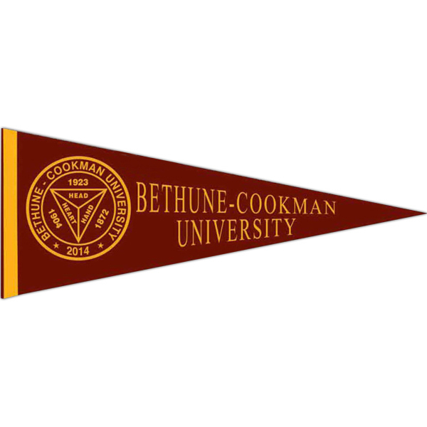 Personalized Colored Felt Pennant with Sewn Strip