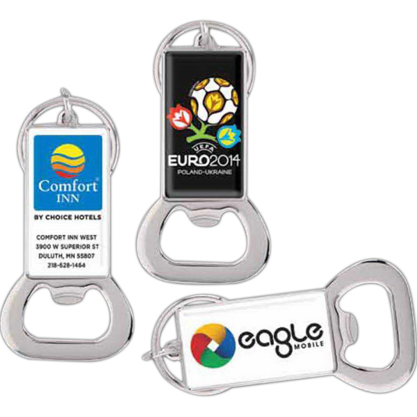 Printed Bottle Opener Key Ring