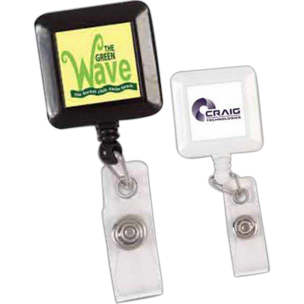 Promotional Square Badge Reel