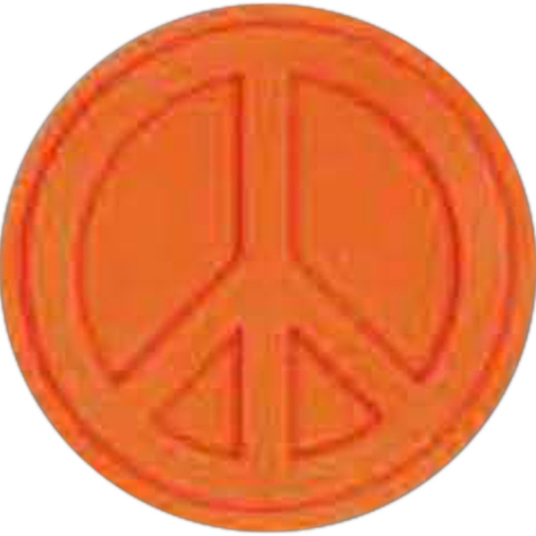 Printed Peace Sign Pencil Top Eraser