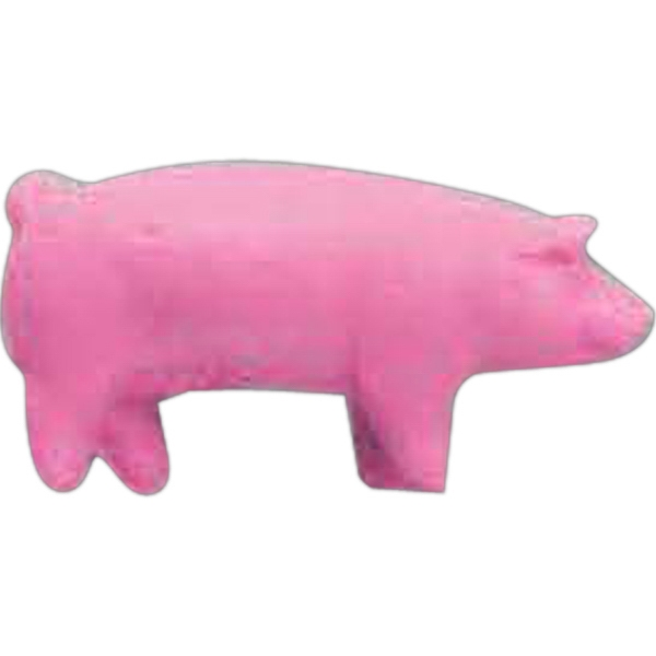 Printed Pink Pig Pencil Top Eraser