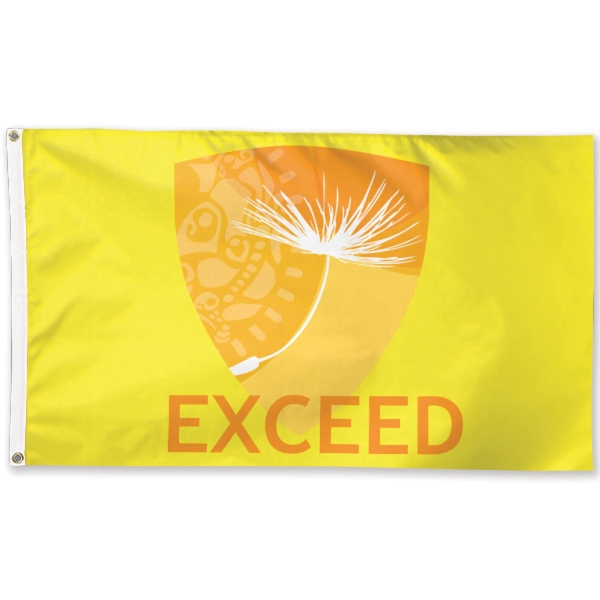 Promotional Polyester one-sided Flag
