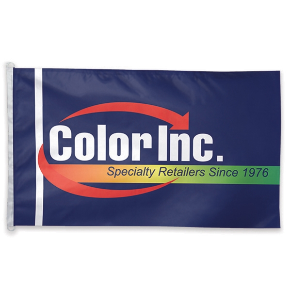 Printed Polyester one-sided Flag