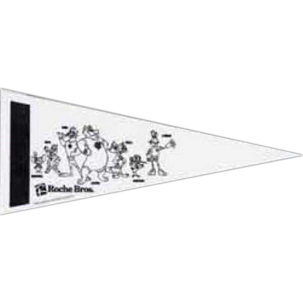 Imprinted Color-Me Felt Pennant with Screened Strip