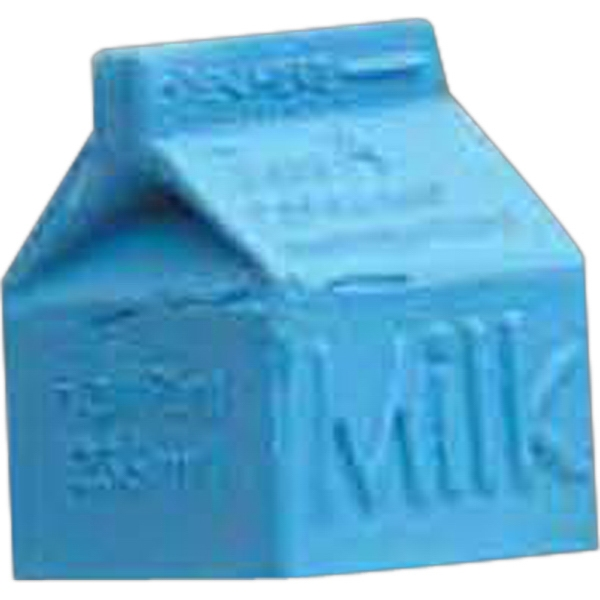 Printed Milk Carton Pencil Top Eraser