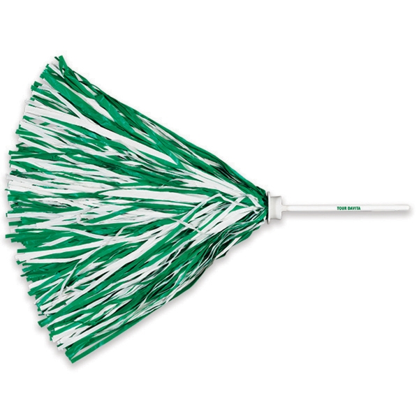 "Custom Imprinted Pom with 6"" Plastic Stick Handle"