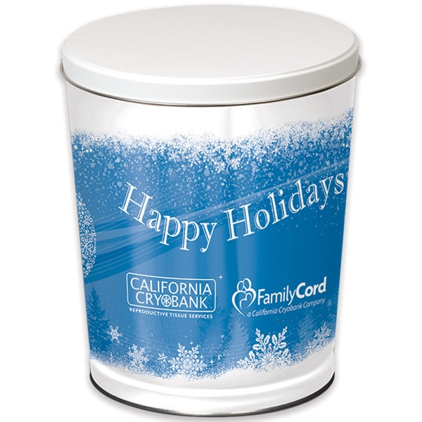 Imprinted Custom 3-gallon Empty Gift Tin