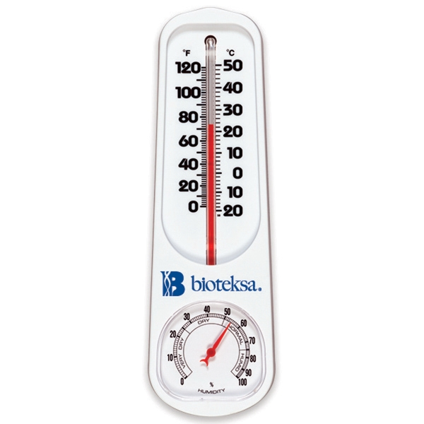 Imprinted Indoor / Outdoor Thermometer / Hygrometer