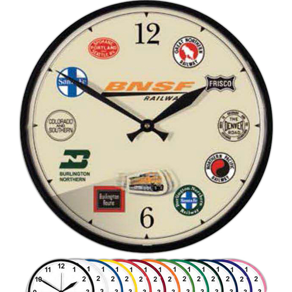 "Printed 12 3/4"" Motion Picture Wall Clock"