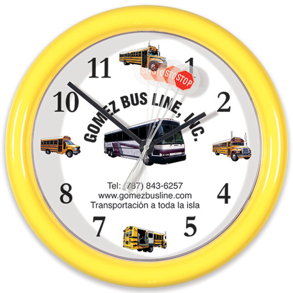 "Promotional 8 1/2"" Wall Clock with Motion Sweep"