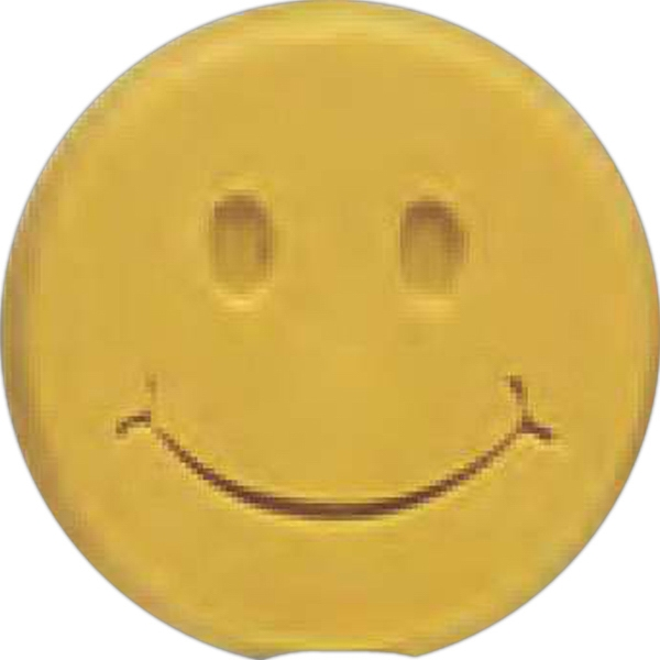 Imprinted Happy Face Pencil Top Eraser