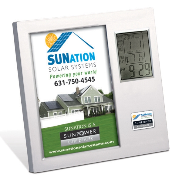 Promotional Time / Temperature Photo Frame